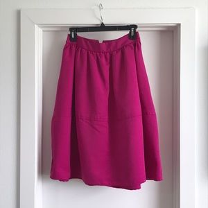 Express midi skater skirt in Fuchsia